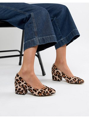 ASOS DESIGN sahara leather mid heels