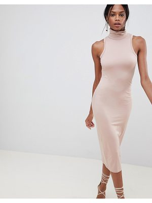 ASOS Design Soft Touch Bodycon Dress With Turtleneck
