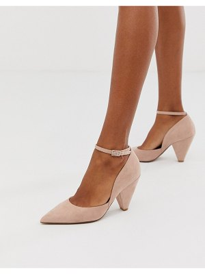 ASOS DESIGN speak out pointed mid-heels in beige