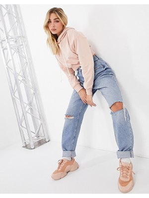 ASOS DESIGN super soft cropped batwing hoodie in pink