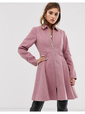 ASOS DESIGN swing coat with zip front