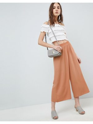 Asos DESIGN tailored easy elasticated waist soft culottes