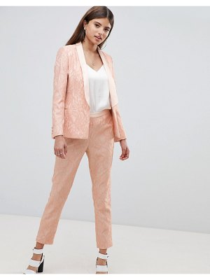ASOS DESIGN tailored lace slim pants-pink