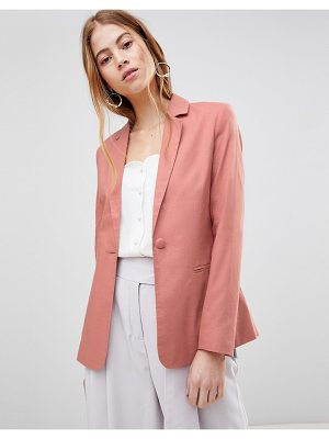 ASOS DESIGN tailored single breasted linen blazer