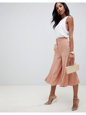 ASOS DESIGN tailored soft culotte with fluted hem