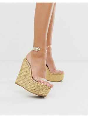 ASOS DESIGN takeover clear wedges