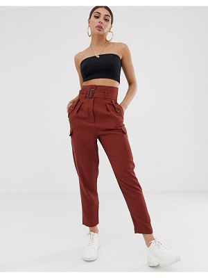 ASOS DESIGN tapered pants with utility pocket detail