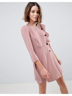 ASOS Design Ultimate 40'S Mini Tea Dress With Buttons