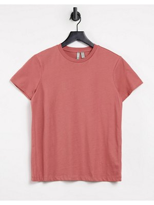 ASOS DESIGN ultimate organic cotton t-shirt with crew neck in dusty pink
