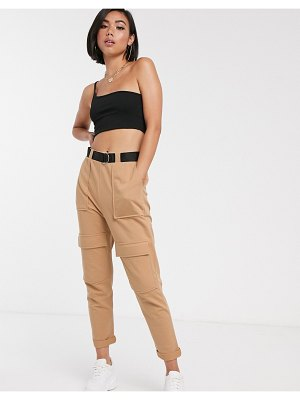 ASOS DESIGN utility cargo jogger with belt