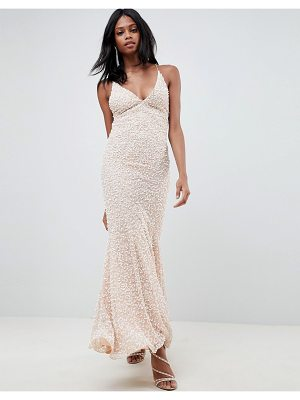 ASOS Edition all over embellished strappy back maxi dress