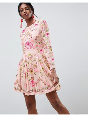ASOS Edition ASOS EDITION Beautiful Embellished Floral Skater Dress