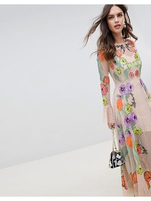 ASOS Edition ASOS EDITION embroidered floral maxi dress