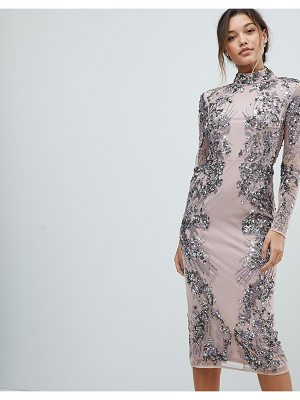 ASOS Edition ASOS EDITION Placed Scattered Sequin Midi Dress
