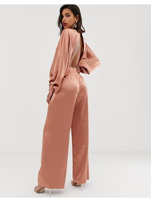 ASOS Edition blouson sleeve satin jumpsuit