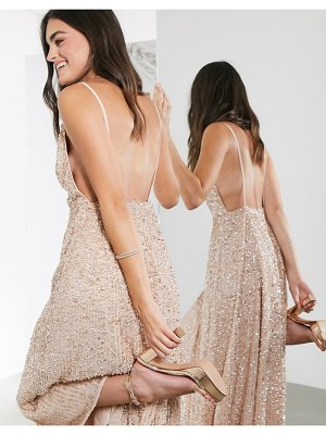 ASOS Edition embellished cami midi dress-pink