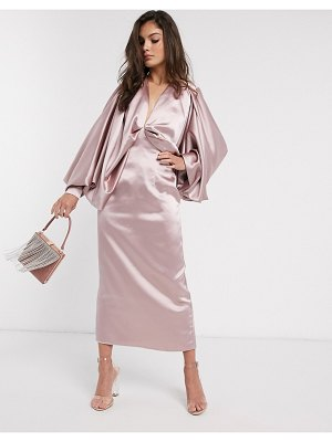ASOS Edition extreme kimono sleeve midi dress-pink