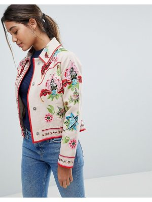 ASOS DESIGN embroidered canvas jacket