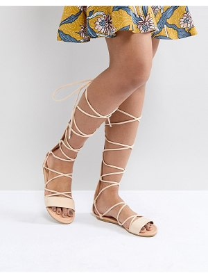 ASOS DESIGN asos flaming tie leg sandals