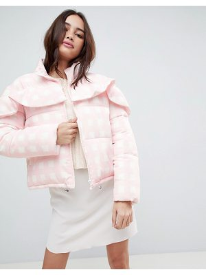 ASOS DESIGN asos gingham padded jacket