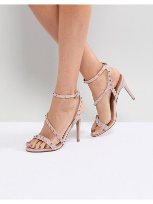 ASOS DESIGN asos hacker studded heeled sandals