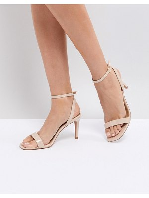 ASOS DESIGN asos half time barely there heeled sandals