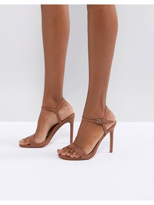 ASOS DESIGN Hands down barely there heeled sandals