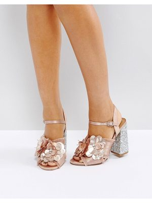 Asos HEATHER Floral Embellished Heeled Sandals