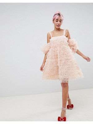 ASOS DESIGN hello kitty x cold shoulder dress