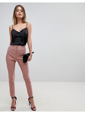 Asos High Waist Pants In Skinny Fit