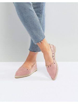 ASOS DESIGN jiselle point studded espadrilles
