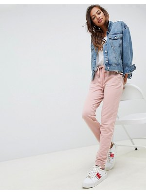 ASOS DESIGN joggers with pearl cuffed hem