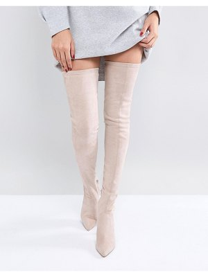 ASOS DESIGN asos kendra point over the knee boots