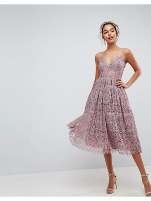 ASOS DESIGN asos lace cami midi prom dress