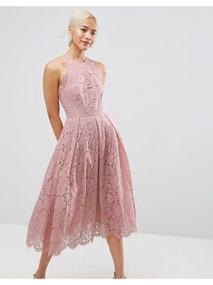 ASOS Lace Pinny Scallop Edge Prom Midi Dress