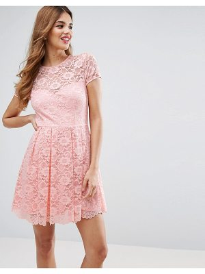 ASOS Lace Skater Mini T-Shirt Dress