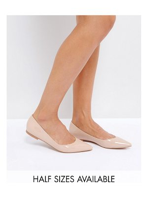 ASOS DESIGN latch pointed ballet flats