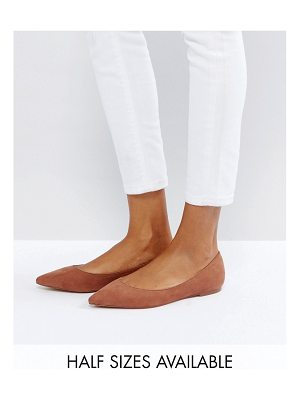 ASOS DESIGN asos latch pointed ballet flats