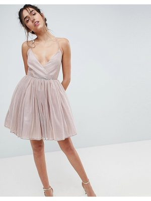 ASOS DESIGN asos metallic tulle mini dress