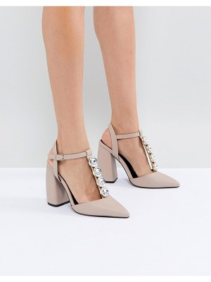 ASOS DESIGN peacock embellished high heels