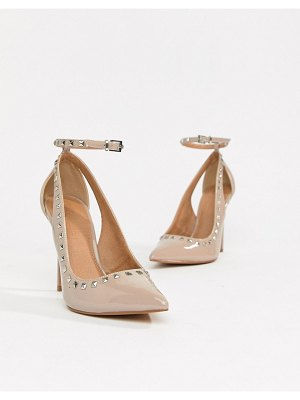 ASOS DESIGN persuade studded pointed high heels