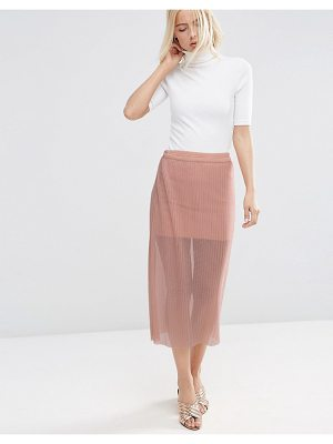 ASOS Pleated Skirt In Sheer Mesh