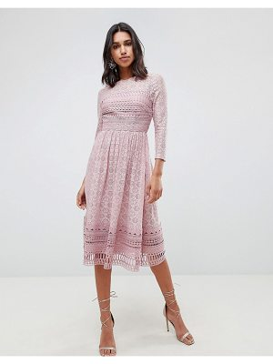 ASOS DESIGN lace midi skater dress