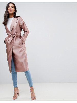 ASOS DESIGN satin trench