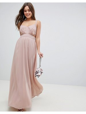 ASOS DESIGN asos side cut out maxi dress with cami straps