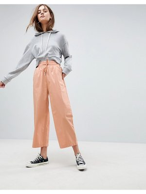 ASOS Soft Wide Leg Pants In Dusty Pink