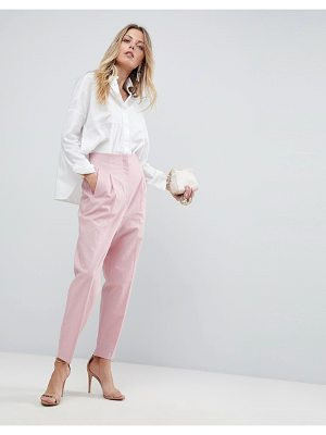 ASOS DESIGN asos tailored clean high waist linen peg pants