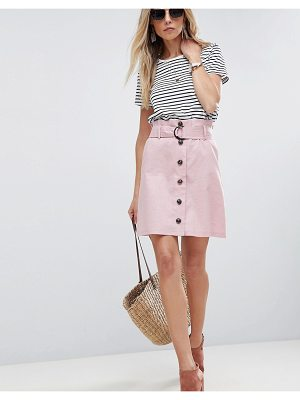 ASOS DESIGN asos tailored linen paperbag mini skirt