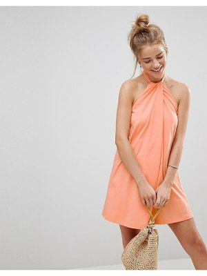 ASOS DESIGN twist halterneck swing sundress