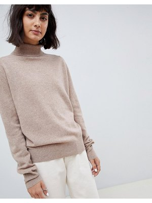 Asos White 100% cashmere sweater with roll neck